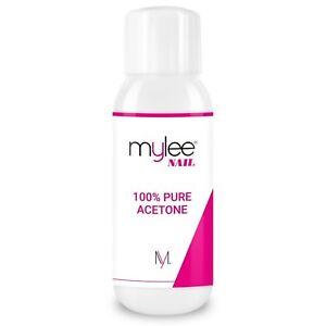 A Mylee 100% Pure Acetone 300ml Superior Quality Nail Polish Remover UV/LED GEL