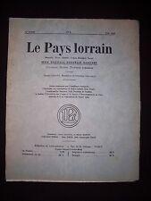Le pays lorrain - N°6 1932