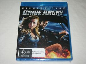 Drive Angry - Nicholas Cage - Brand New & Sealed - Region B - Blu Ray - Rare