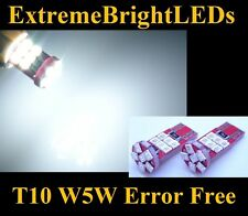 TWO HID WHITE 18-SMD (2835 chips) 2825 W5W Canbus Error Free Parking light #11B