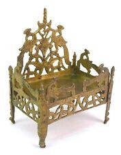 Vintage Brass Throne Gods Pedestal / Old Singhasan Prayer Room Decor. G53-500 US