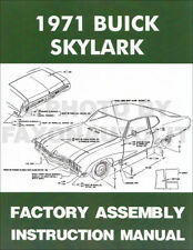1971 Buick Skylark and GS Factory Assembly Manual 71 GS Gran Sport Stage 1 455