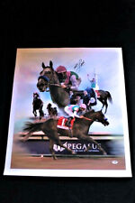 ARROGATE MIKE SMITH SIGNED CANVAS GICLEE HORSE RACING PSA/DNA BREEDERS CUP HOF