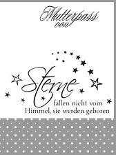 """Mutterpasshülle 3-teilig, Spruch """"Sterne..."""", personalisierbar mit Name"""