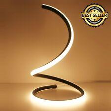 Spiral LED Table Lamp Curved Desk Light Minimalist Warm White Lighting Furniture