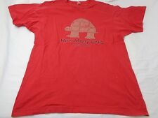 """Vintage Anvil """"How many Licks Does it take"""" Red Men's T-shirt Size Large"""