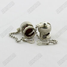 50Pcs Protective Cover Dust Cap For BNC Female Connector Chain Without Male Pin