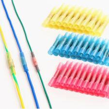 100 Heat Shrink Butt Wire Electrical Crimp Connector 10-12 14-16 18-22 Gauge Kit