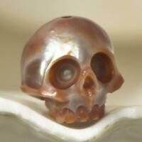 10.64 mm Human Skull Bead Carving Kasumi-like Freshwater Pearl 1.65 g drilled