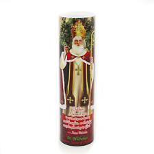 Saint Nicholas of Myra, Devotion PRAYER Saint LED Flameless candle 6 Hour Timer