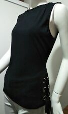 ladies black rib top large eyelets lace up size 18 Petite kmart Hot for Summer