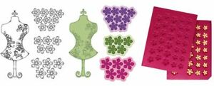 Heartfelt Creations Stamp, Die & Mold Combo ~ FLORAL FASHIONISTA, PETITE FLORALS