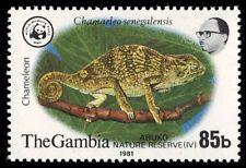 """GAMBIA 435 (SG463) - WWF Abuko Reserve """"Chameleon"""" (pf23015)"""
