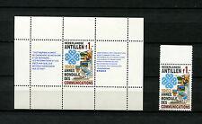 Niederl. Antillen  Block  24 und Nr. 493  postfrisch **    (D1212)