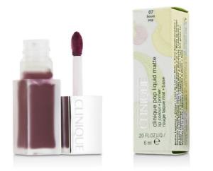Clinique Pop Liquid Matte Lip Colour Color Primer Lipstick Gloss NEW in Boom