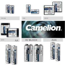 Pile batterie lithium bâton AA AAA block 9V Photo 2CR5 CR2 CR123A CR-P2 Camelion