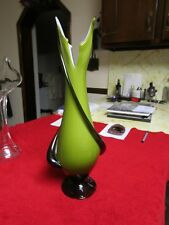 Elegant Green and Black and White Vase - Absolutely Stunning even without Flower