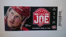 DETROIT RED WINGS VS MONTREAL CANADIENS APR 8/17 JUSTIN ABDELKADER TICKET STUB