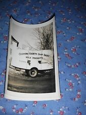 Old Photo Chippewa County Co-Op Dairy Trailer Bloomer    4 9/16 x 3 1/4 inch