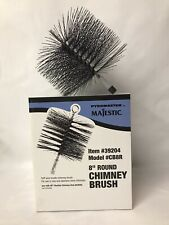 """Majestic Pyromaster 8"""" Round Chimney Brush #39204 For Clay Or Stainless Chimney"""