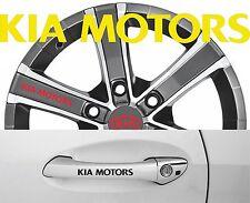 4 x Türgriff- Felgen Aufkleber KIA Motors 001