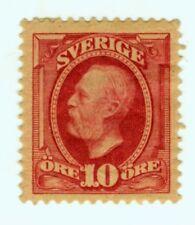 Sweden, 58, 10 ore carmine,  King Oskar MH