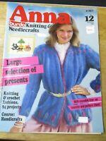 ANNA BURDA KNITTING & CRAFT NEEDLE CRAFTS NO. 12 DECEMBER 1982
