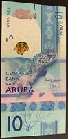 UNC 10 Aruba Florins 2019 Banknote Currency  [USA Seller]