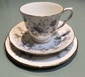 Colclough Trio Bone China Cup Saucer & Side Plate Rhapsody In Blue