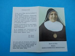 IMAGE PIEUSE SERVANTE DE DIEU SOEUR  MARIA MANTOVANI