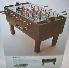 Dynamo Model C Table Soccer Foosball FLYER Advertising Promo Artwork Sheet 1970s