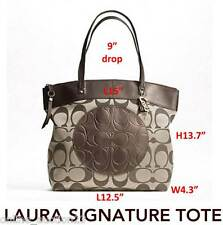 COACH Khaki Copper Laura Signature Large Tote F18335 BRAND NEW w TAG Authentic