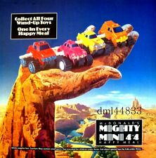 1991 McDonalds Mighty Mini 4x4 MIP Complete Set & U-3, Boys & Girls, 3+