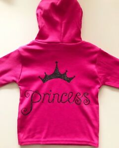 Hand painted Baby Hoody Jumper Princess Baby Shower Gift 0-3m up to 3 years