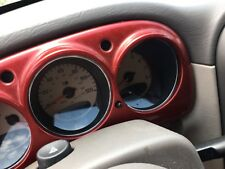 01 02 03 04 05 Chrysler PT Cruiser Speedometer Bezel Trim Red