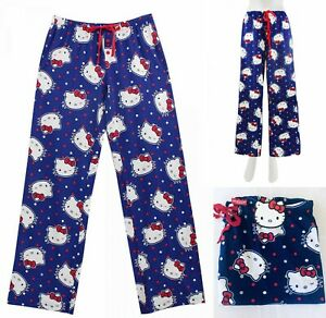 NWT Hello Kitty cotton Pajama pants for women S,M,L,XL, Navy Blue