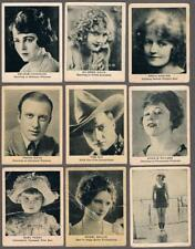 1916 C142 Type 2 Film Stars Series 5 Tobacco Cards Lot of 25