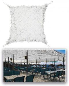 Filet bâche de camouflage renforcé acier - couleur blanc - plusieurs tailles*