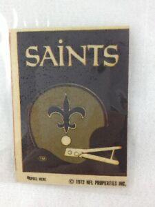 NFL 1972 New Orleans Saints Sunbeam / Schwiebel Bread Mini Helmet Sticker