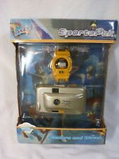 Vintage Sakar SportsPak Children's 35mm Camera and Sports Watch - NIB