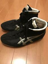 asics wrestling boxing shoes Black Silver 27 cm shipping from Japan pre-owned