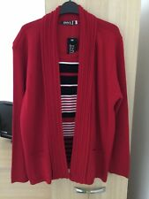 Ladies Cardigan Style Top. Red. Size Med - Large. BNWT.