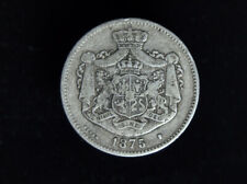 More details for scarce 1875 romanian 2 lei silver coin. perfect type set coin