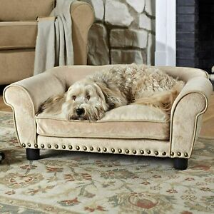 """Enchanted Home Pet Dreamcatcher Sofa Dog Bed in Cream, 33.5"""" L x 21"""" W"""