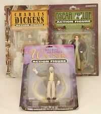 Lot of 3 Accoutrements Action Figures Dickens Wilde Wagner New Old Stock