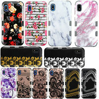 For Samsung Galaxy A10E IMPACT TUFF HYBRID Protector Hard Case Skin Phone Cover