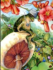 """Postcard Of The Frog """"Top O' The World"""" From Whimbletails By Adele Dunne"""