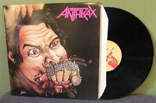 "Anthrax ""Fistful of Metal"" LP NM UK Orig SOD Metallica Megadeth Slayer"