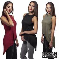 Urban Classics Damen Top Damentop Longtop Shirt Damenshirt Oberteil Vokuhila