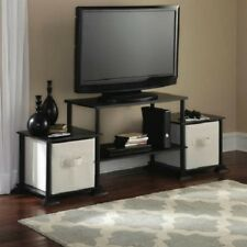"TV Stand Entertainment Center Media Console Storage for Flat LCD up to 40"" Black"